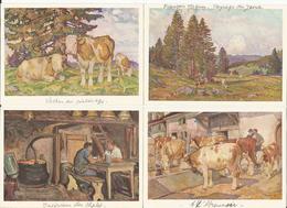 Chalet, Pâturages Et Vaches Du Jura Par François Jaques,  (4x 806) 10x15 - Elevage