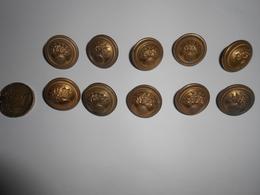 """Lot De 10 Boutons """" Grenade """" - Buttons"""