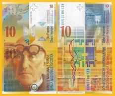 Switzerland 10 Franken P-67c 2008 Sign. Raggenbass & Jordan UNC - Suisse