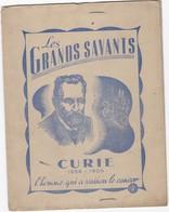 Les Grands Savans     Curie - Protège-cahiers