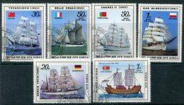 Y85 DPRK (NORTH KOREA) 1987 2811-2816 Sailing Vessels. Ships Fleet. Transport - Ships