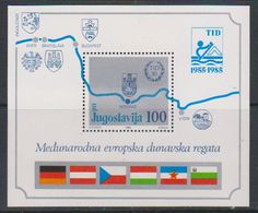 Yugoslavia 1985 Eur. Danube Regata M/s ** Mnh (41264F) - Blokken & Velletjes