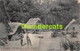 CPA SURINAME BOSCHNEGERKAMP IN DE BOVEN SARAMACCA NEGRES NEGROES NEGERS - Surinam
