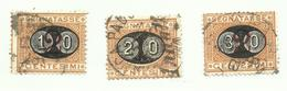 Regno 1890-1891  - Umberto I° - Serie Segnatasse Del 1870 Sovrastampate (mascherine) Usate - 1878-00 Humbert I