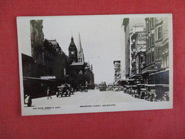 Australia > Victoria (VIC) > Melbourne   Swanston Street  ---RPPC By Rose Series --has  Stamp & Cancel     Ref 3073 - Melbourne