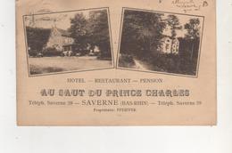 CPA..SAVERNE.AU SAUT DU PRINCE CHARLES.HOTEL RESTAURANT. - Saverne