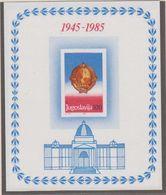 Yugoslavia 1985 40Y Republic M/s ** Mnh (41284A) - Blokken & Velletjes
