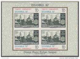 Turkey 1985 Istanbul '87 M/s ** Mnh (41284B) - Blokken & Velletjes