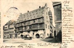 Hanau, Altstädter Rathaus, 1903 Nach Frankreich Versandt - Hanau