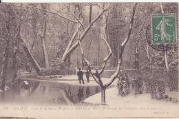CPA  -  182. MEAUX - Crue De La Marne 29 Janvier 1910...promenade Des Trinitaires Sous La Neige - Meaux