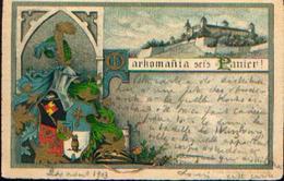 """Markomania Sei's Panier !"" Avec La Citadelle De WURZBURG (1903) - Germany"