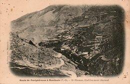 Route De FONTPEDROUSE à MONTLOUIS-St Thomas, Etablissement Thermal - France