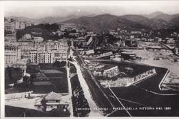 GENOVA VECCHIA PIAZZA DELLA VITTORIA NEL 1880  AUTENTICA 100% - Genova
