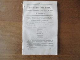BULLETIN DES LOIS N° 200 DU 3 DECEMBRE 1832 ORDONNANCE SUR LES MAISONS MILITAIRES CENTRALES DE DETENTION 60 PAGES - Decrees & Laws