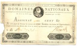 ASSIGNAT ROYAL DE 100 LIVRES 19 JUILLET 1791 - Assignats & Mandats Territoriaux