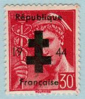 FRANCE - 1944 - Mercure 30 C Surchargé « Croix De Lorraine 1944 République Française » - Neuf - Libération