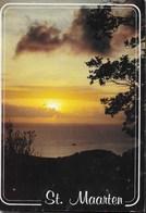 ANTILLE OLANDESI - ST. MAARTEN - TRAMONTO - VIAGGIATA 1996 FRANCOBOLLO ASPORTATO - Saint-Martin