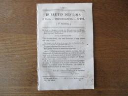 BULLETIN DES LOIS N° 193 ORDONNANCE DU ROI PORTANT NOUVELLE ORGANISATION DE L'ECOLE POLYTECHNIQUE 24 PAGES - Decrees & Laws