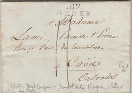 LETTRE DE GENES  DEPARTEMENT CONQUIS 1808  VOIR TEXTE - Marcophilie (Lettres)