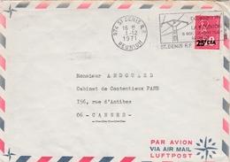 St-Denis Réunion 1974 - Flamme électricité - 100 Millionième Kilowatt - Lettres & Documents