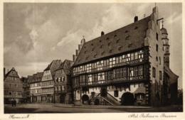 Hanau, Altstädter Rathaus Mit Brunnen Und Friseur Geschäft, Feldpost 1940 Nach Hamburg - Hanau