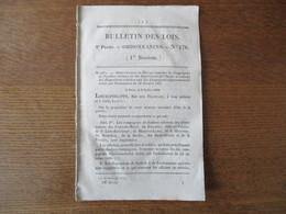 BULLETIN DES LOIS N° 170 ORDONNANCE DU ROI RELATIVE A LA RECONSTRUCTION DU PONT DE TOUQUES CALVADOS............ 12 PAGES - Decrees & Laws