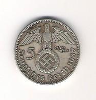 Pièce De 5 Reichmark De 1937 A - [ 4] 1933-1945 : Troisième Reich