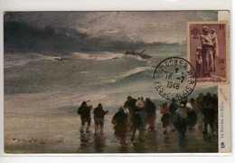 Carte Maximum Avec N°447 Aux Maris Disparus Oblitérée Boulogne Sur Mer 16/7/48 Circulée Vers Marseille - Maximum Cards