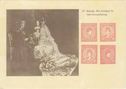 UNGARN 1916 - Krönung KARL IV., Königin ZITA , Kronprinz OTTO - PK - Königshäuser