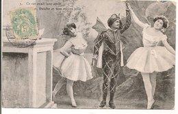 """L74A741 - Danse Classique - """"Ce Rat Avait Une Amie, Brune, Fraiche Et Non Moins Jolie"""" - Carte Satyrique - Danse"""