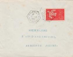 Irdjen SAS 1961 Tizi-Ouzou - Guerre D'Algérie - Lettre - Postmark Collection (Covers)