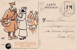 CPFM Gibbs Oblitérée Poste Aux Armées 1940 - !! Trace De Pli - Marcophilie (Lettres)