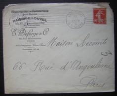 1911 Maison E. Louvel Manufacture De Confections Pour Dames  E Deforge & Cie 65 Rue Montmartre Paris - Marcophilie (Lettres)