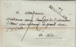 LETTRE. 15 JUIL 1809. VAR. 78/BRIGNOLLES POUR AIX. TAXE PLUME 10  /  2 - Storia Postale