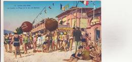 CPA - 12. JUAN LES PINS - Le Casino, La Plage Et Le Jeu De Ballons - Juan-les-Pins