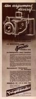 "PUB  APPAREIL PHOTOGRAPHIQUE  ( BESSA ) "" VOIGTLANDER ""   1935 - Appareils Photo"