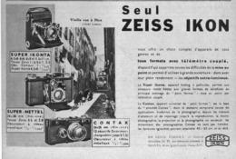 """PUB  APPAREIL PHOTOGRAPHIQUE """" ZEISS IKON """"   1935 ( 1 ) - Appareils Photo"""