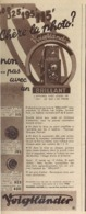 "PUB  APPAREIL PHOTOGRAPHIQUE  ( BRILLANT ) "" VOIGTLANDER ""   1935 - Cameras"