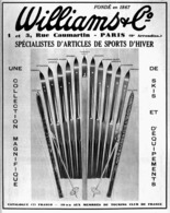 "PUB SKI  "" WILLIAM & Cie ""   1935 - Winter Sports"