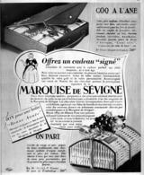 """PUB  CHOCOLATS Et CONFISERIES   """" MARQUISE De SEVIGNE """"   1935 ( 1 ) - Chocolate"""