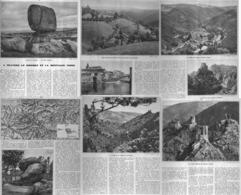 """à TRAVERS Le SIDOBRE Et La MONTAGNE NOIRE """"CASTRES / BURLATS / ROCHERS SIDOBRE / LASTOURS """"  1935 - Midi-Pyrénées"""