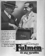"""PUB BATTERIE  """"  FULMEN   """" Par ALAIN SAINT OGAN 1935 (8) - Transportation"""