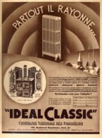 """PUB CHAUFFAGE CENTRAL  """" IDEAL-CLASSIC """"   1935 (16) - Other"""