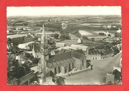 CPSM 1963 Plounevez_Lochrist  (29)  En Avion....L'Eglise Et La Place  Lapie - Frankrijk