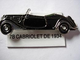 PIN'S 7B CABRIOLET   DE 1934  ESTAMPILLE EDITIONS ATLAS - Pin's