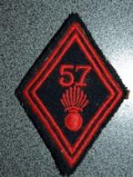 ECUSSON TISSUS  ARMEE  FRANCAISE  LOSANGE  57 RI - Patches