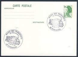 France Rep. Française 1986 Card / Karte / Carte - 20e Anniv. Musee Des Transport, Pitvihiers / Transportmuseum - Treinen