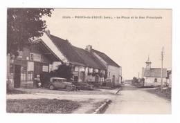 Poids-de-Fiole.39.Jura.La Place Et La Rue Principale. - Altri Comuni