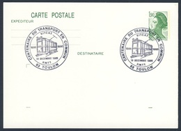 France Rep. Française 1986 Card / Karte / Carte - Cent. Du Transport En Commun - R.M.T.T. 1886-1986, Toulon - Treinen