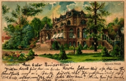 Hannover, Neues Haus, Farb-Litho, 1903 - Hannover